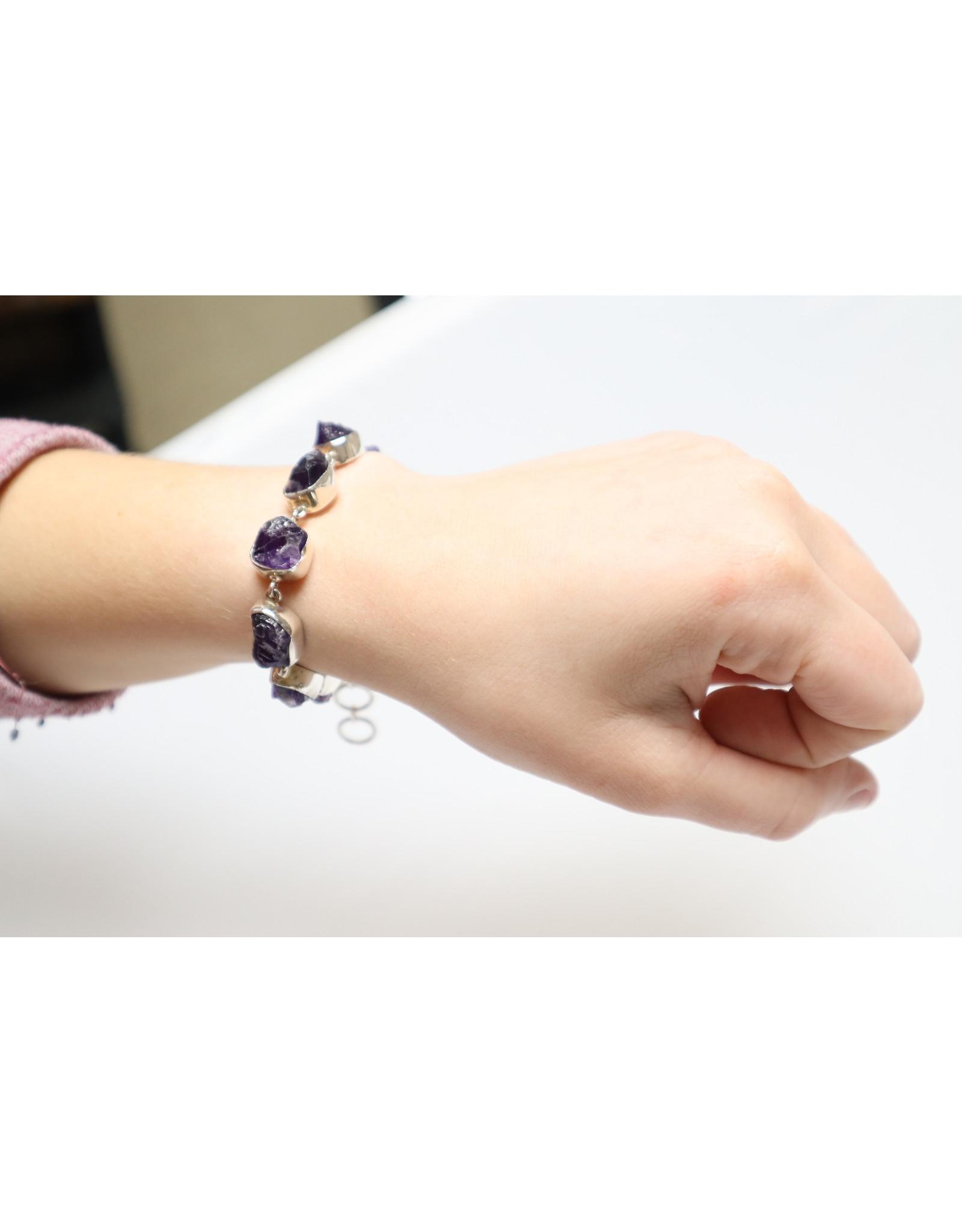 Amethyst Raw Bracelet
