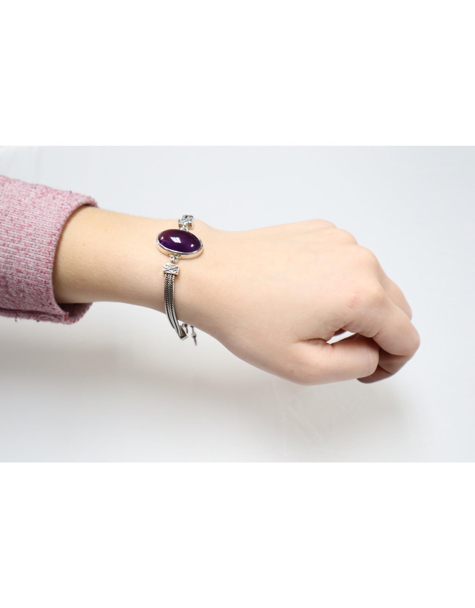 Amethyst Oval Bracelet