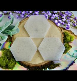 Small Selenite Hexagon Charging Plate
