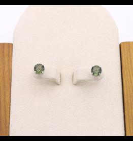 Moldavite Earrings - Stud