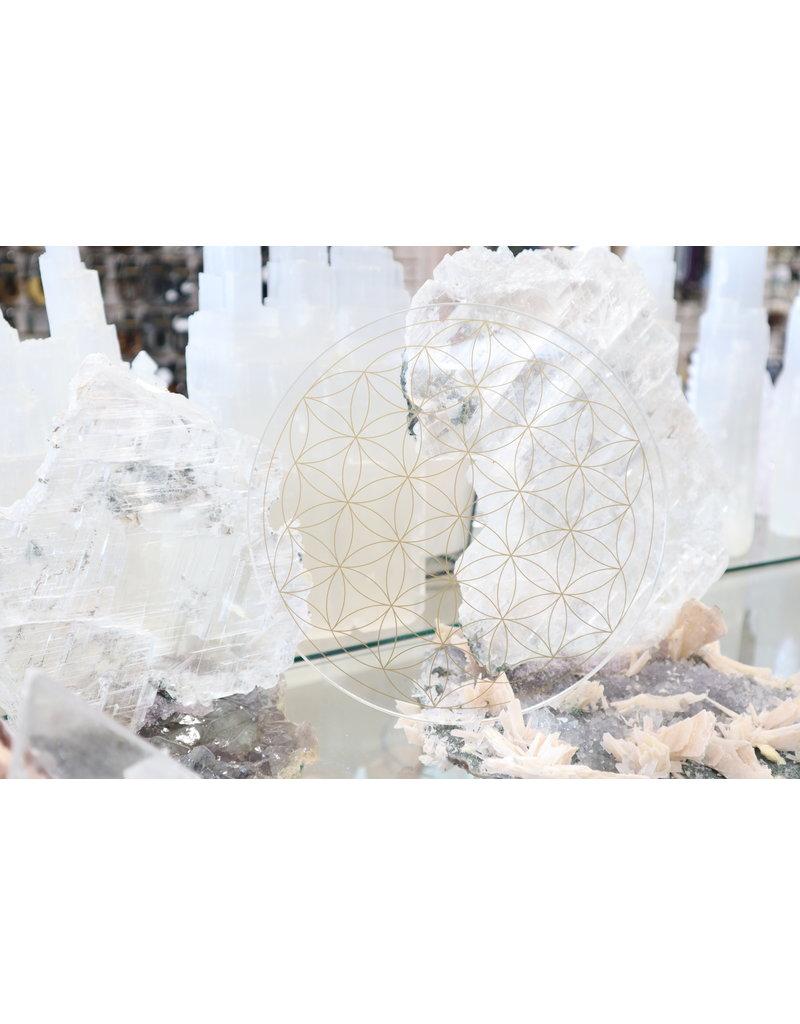 Acrylic Flower of Life Crystal Grid