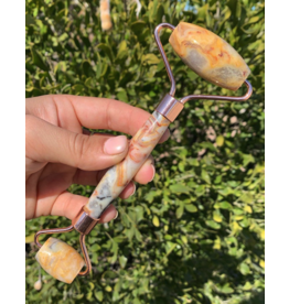Yellow Crazy Lace Agate Roller