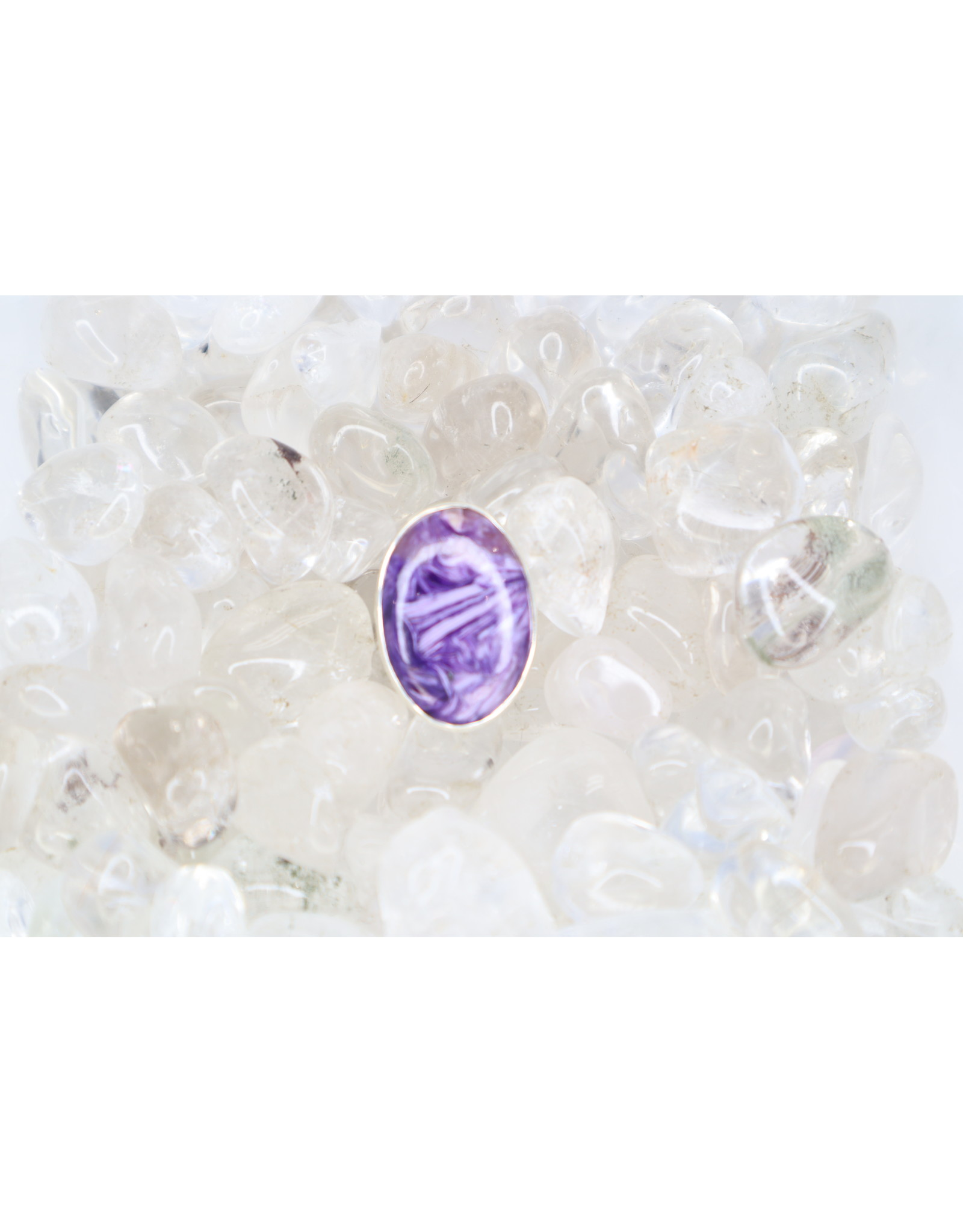Charoite Oval-Cab Ring