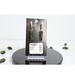Moldavite Earrings - Rough
