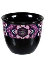 Ceramic Smudge Pot- Flower of Life - Large