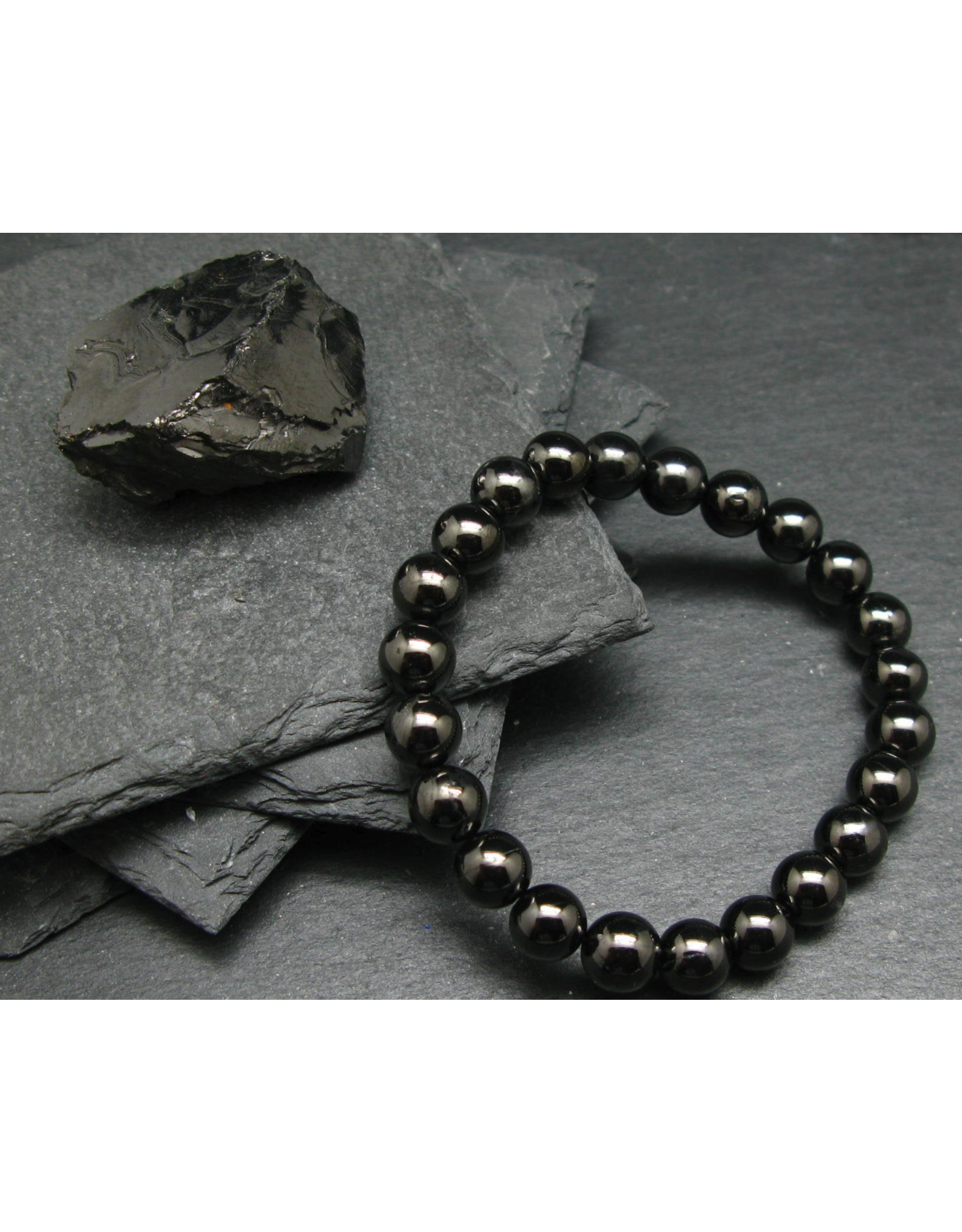 Elite Noble Shungite Bracelet - 8mm