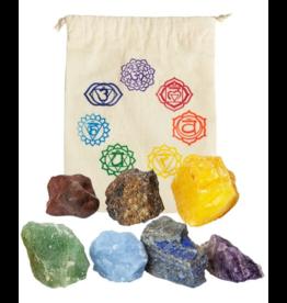 Chakra Rough Stone Balancing Kit