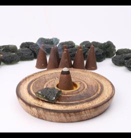 Moldavite Incense Cones