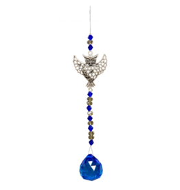 Hanging Crystal w/ Cut Glass Bead - Owl