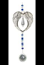 Hanging Crystal w/ Cut Glass Bead - Angel Wings