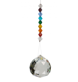 Hanging Crystal Cut Glass Chakra