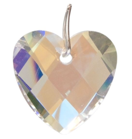Prism Crystal 32mm Faceted Heart AB