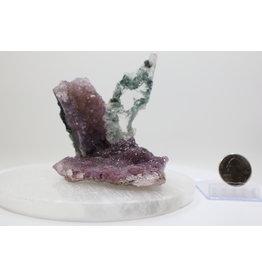 Gypsum on Amethyst #9