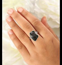 Rough Moldavite Ring - Adj