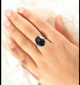 Black Spinel Ring - Adj