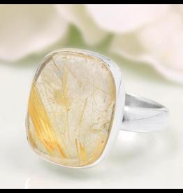 Golden Rutilated Ring - Adj