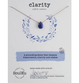 Lapis Lazuli Necklace for Clarity - SoulKu