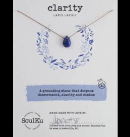 Lapis Lazuli Teardrop Necklace for Clarity - SoulKu