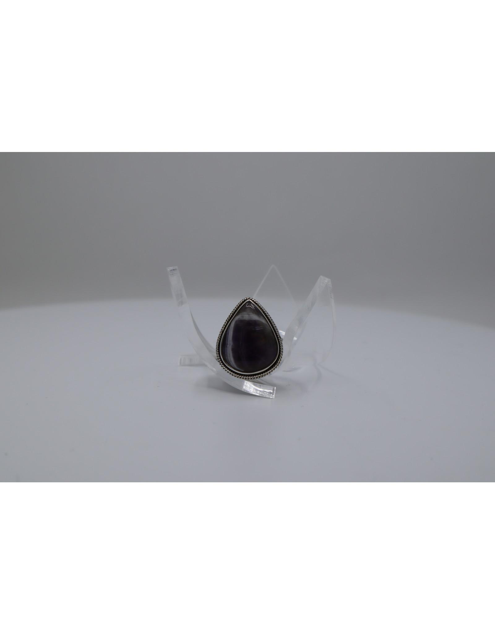Chevron Amethyst Ring - Size 5.5