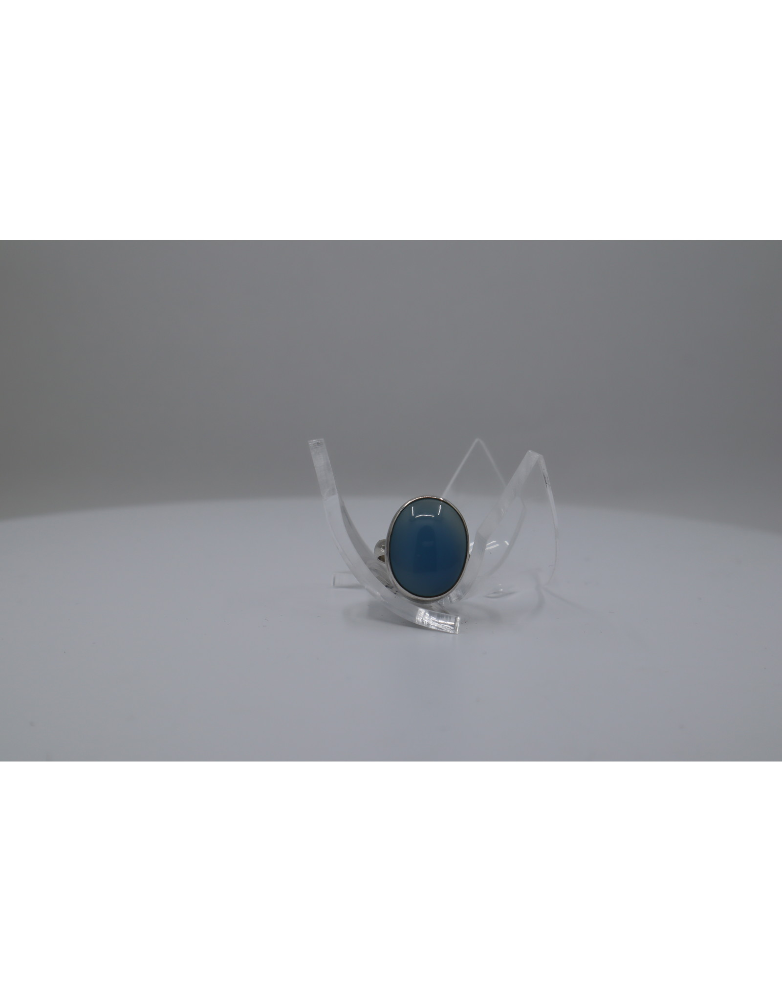 Blue Chalcedony Ring - Size 5.5