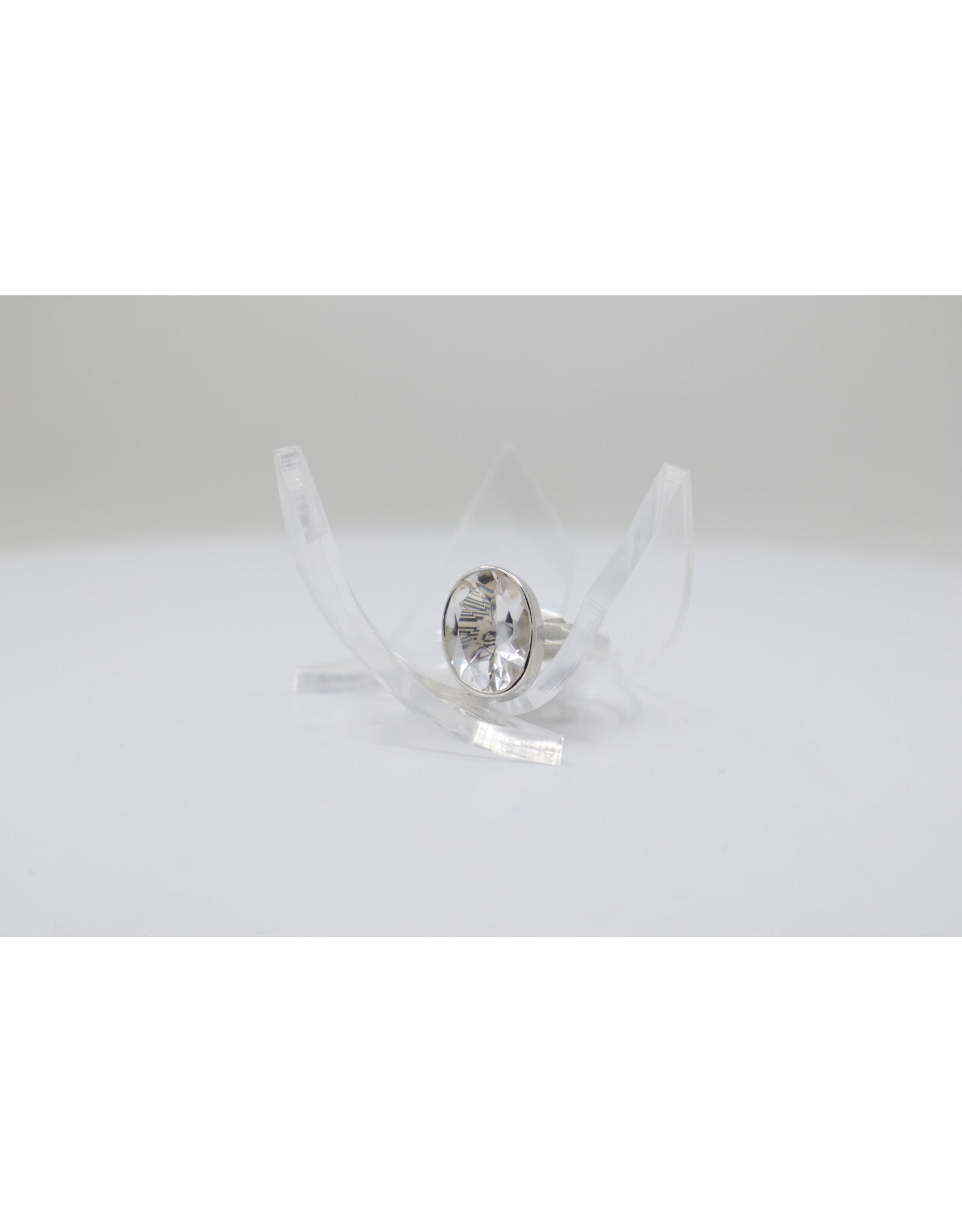 Faceted Quartz Ring - Size 5.5
