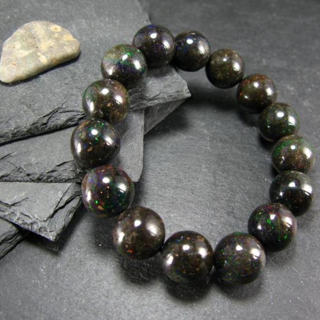 Black Opal Bracelet-13mm