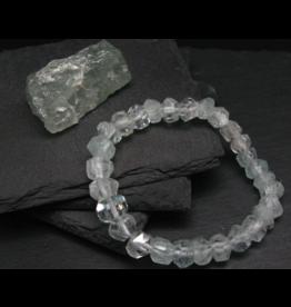 Faceted AAA Aquamarine Bracelet - 10mm