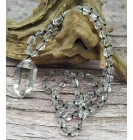 Handmade Clear Quartz with Clear Quartz Necklace