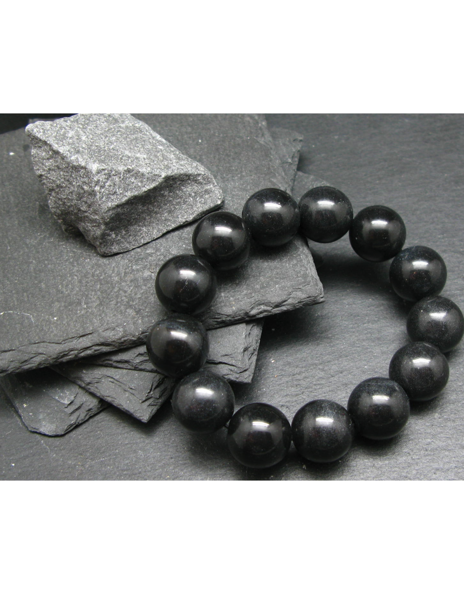 Black Azeztulite Bracelet - 16mm