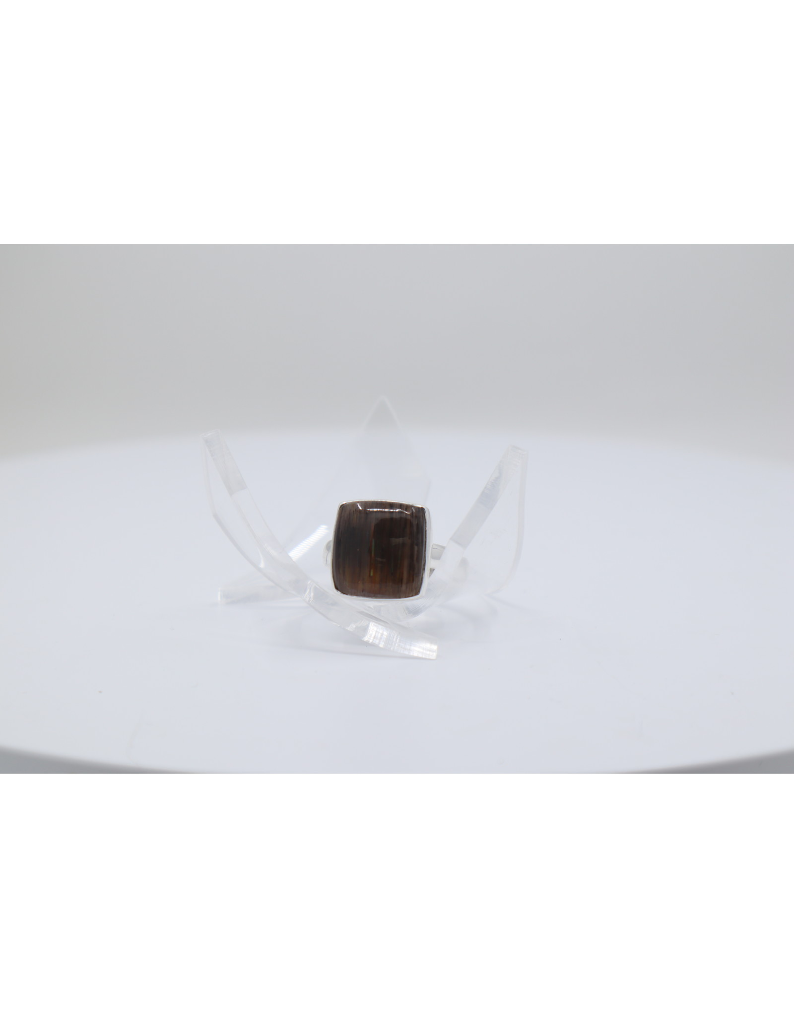 Black Sunstone Ring - Size 9