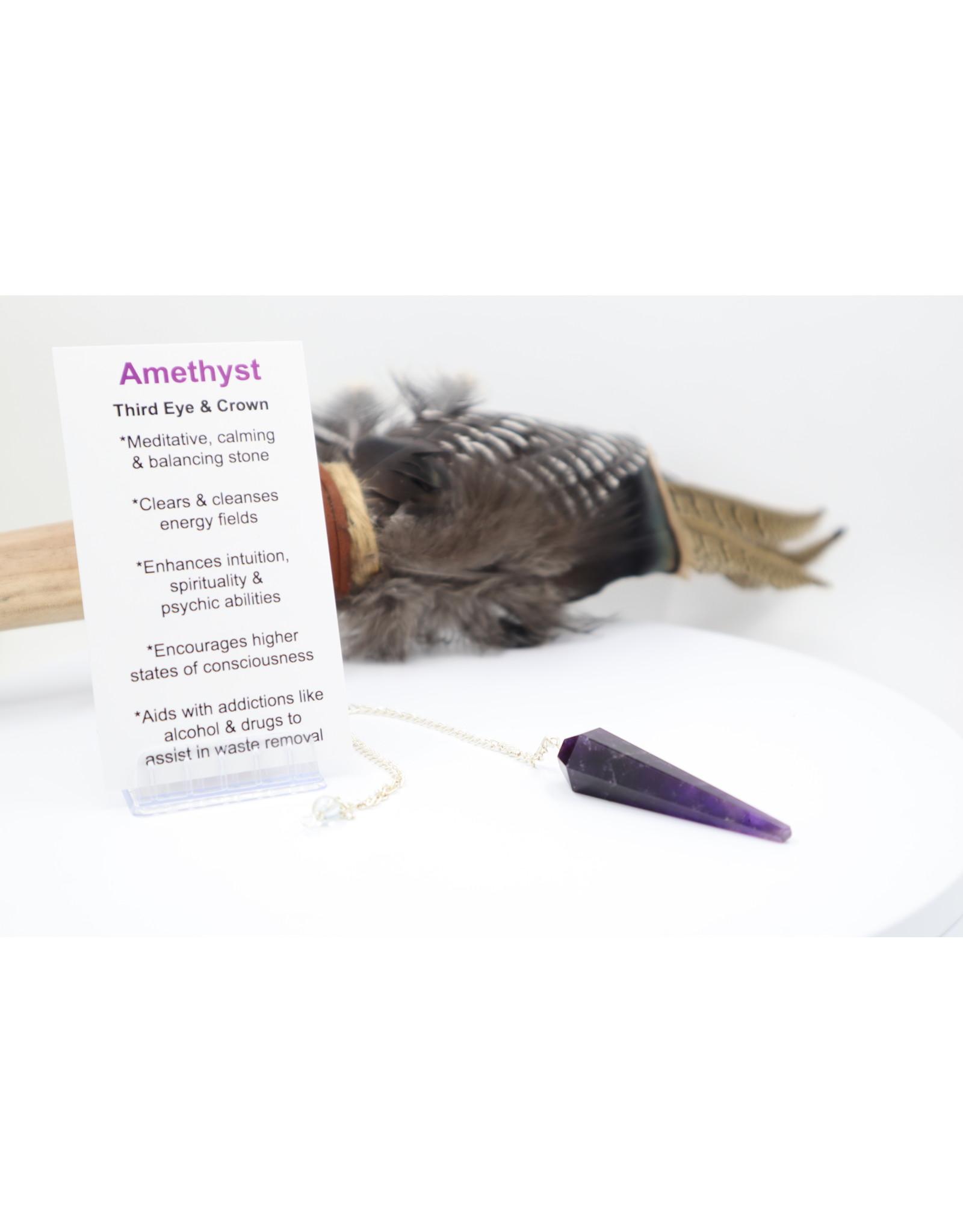 Amethyst Point Pendulum