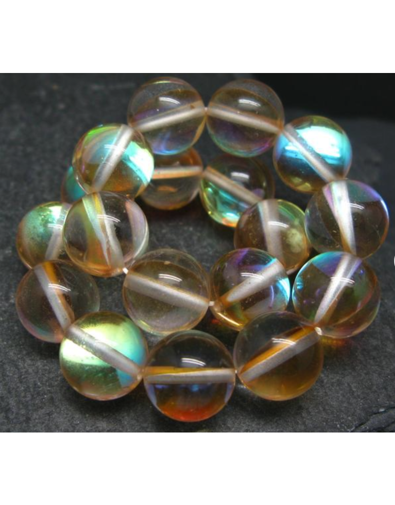 Gold Aura Quartz Bracelet - 10mm