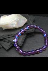 Purple Aura Quartz Bracelet - 8mm