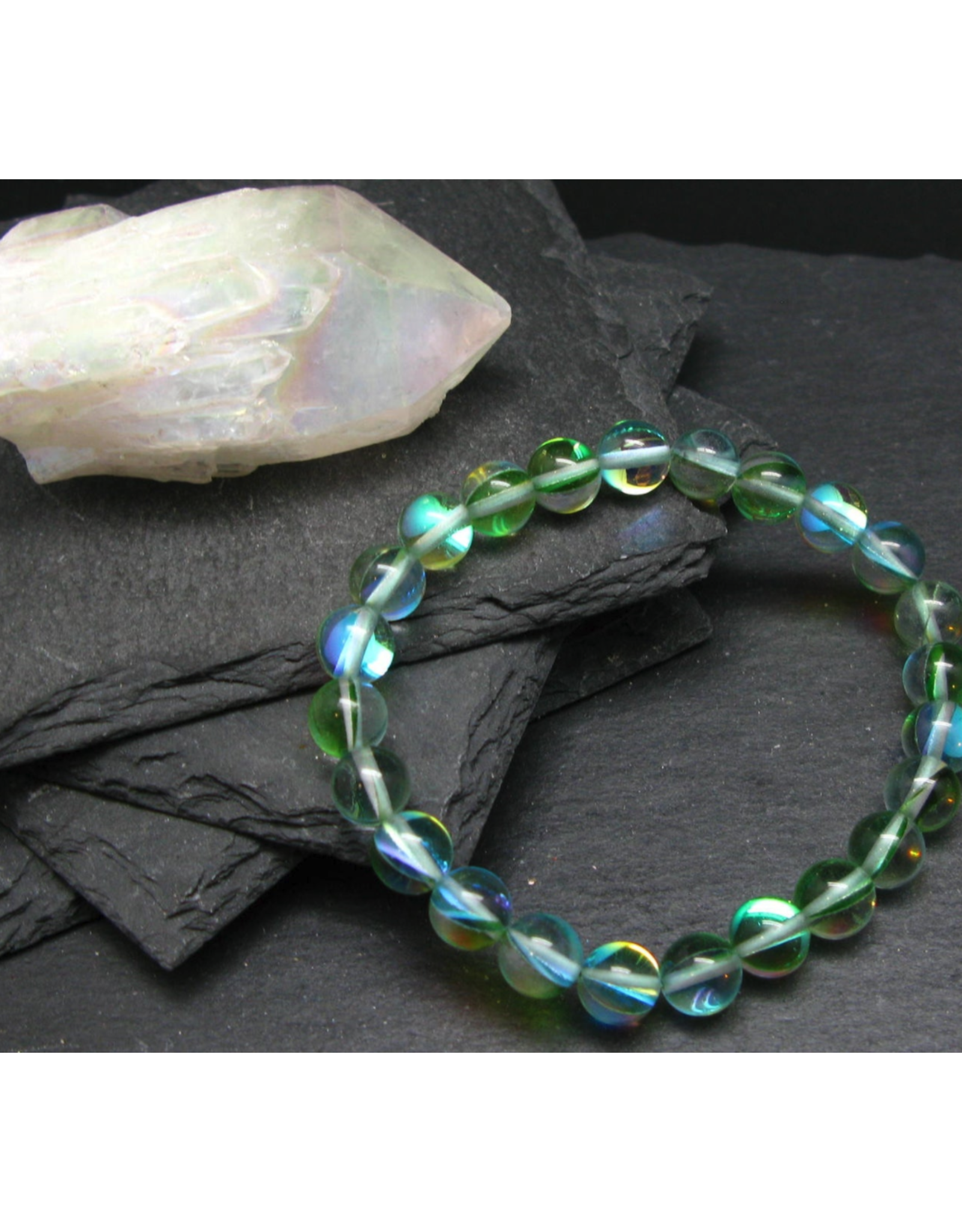 Green Aura Quartz Bracelet - 8mm