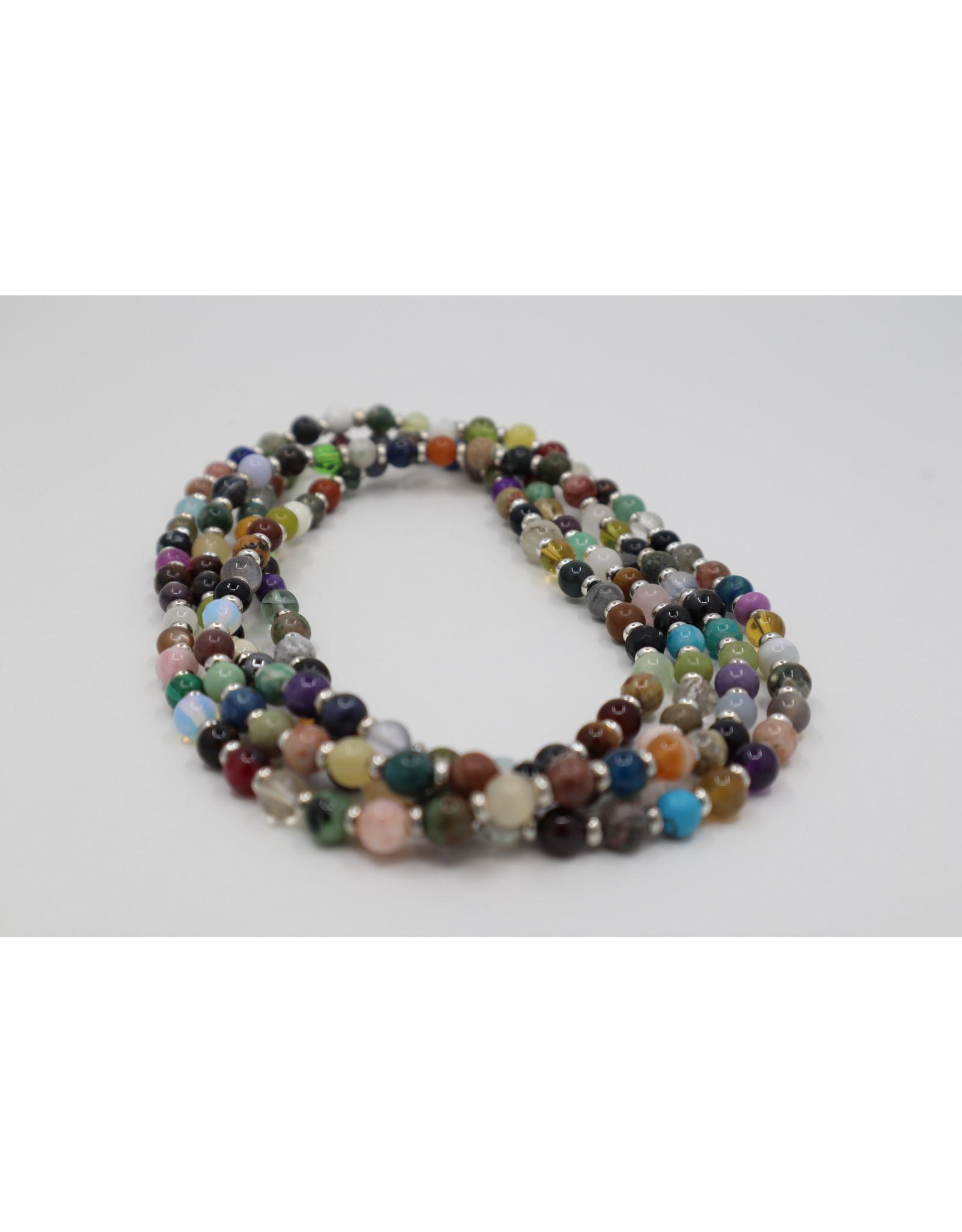 "Assorted Gemstone Necklace - 50"""