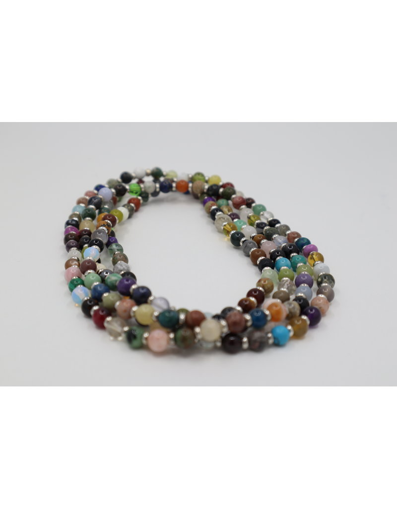 Assorted Gemstone Necklace - 50""