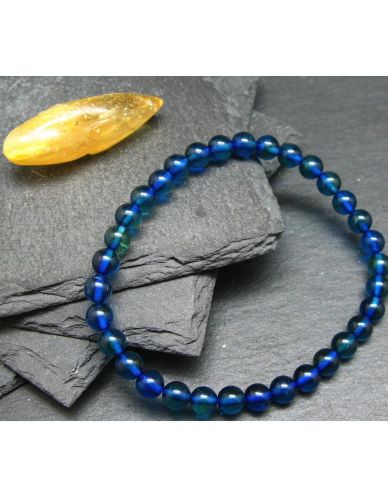 Blue Baltic Amber Bracelet - 6mm