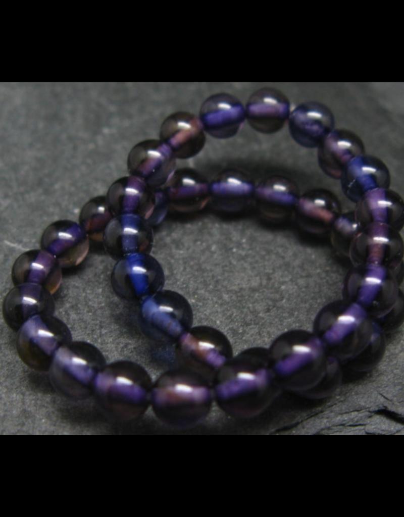 Purple Baltic Amber Bracelet - 5mm