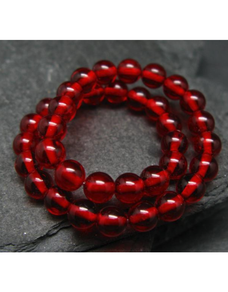 Red Baltic Amber Bracelet - 5mm