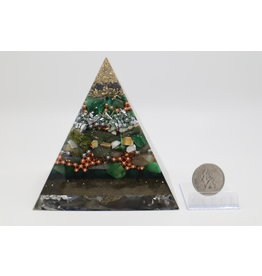 Orgonite Pyramid - Tree of Life XL