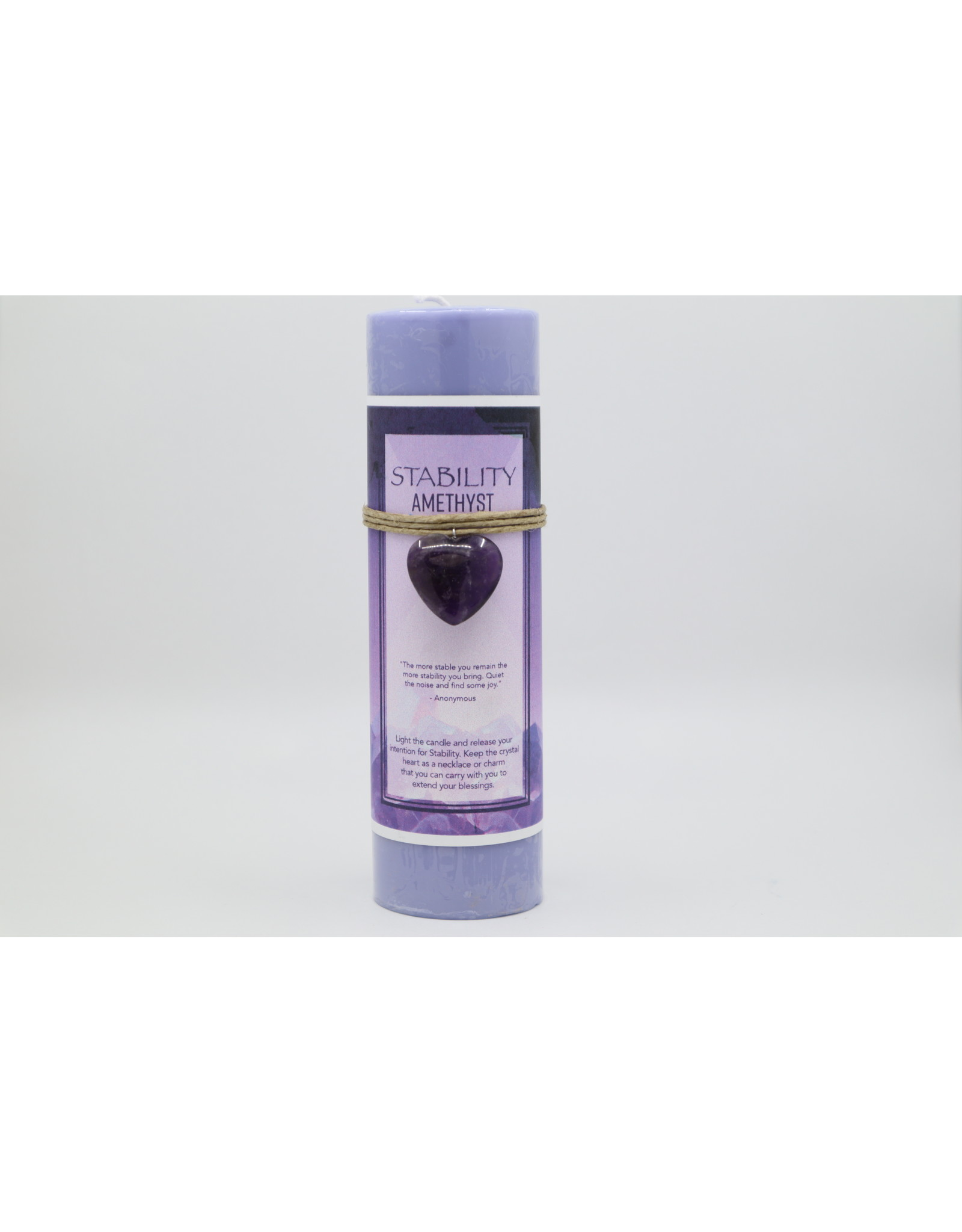 Amethyst Heart Ritual Candle - Stability