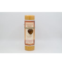 Heart Charm Candle - Strength, Gold Tiger Eye