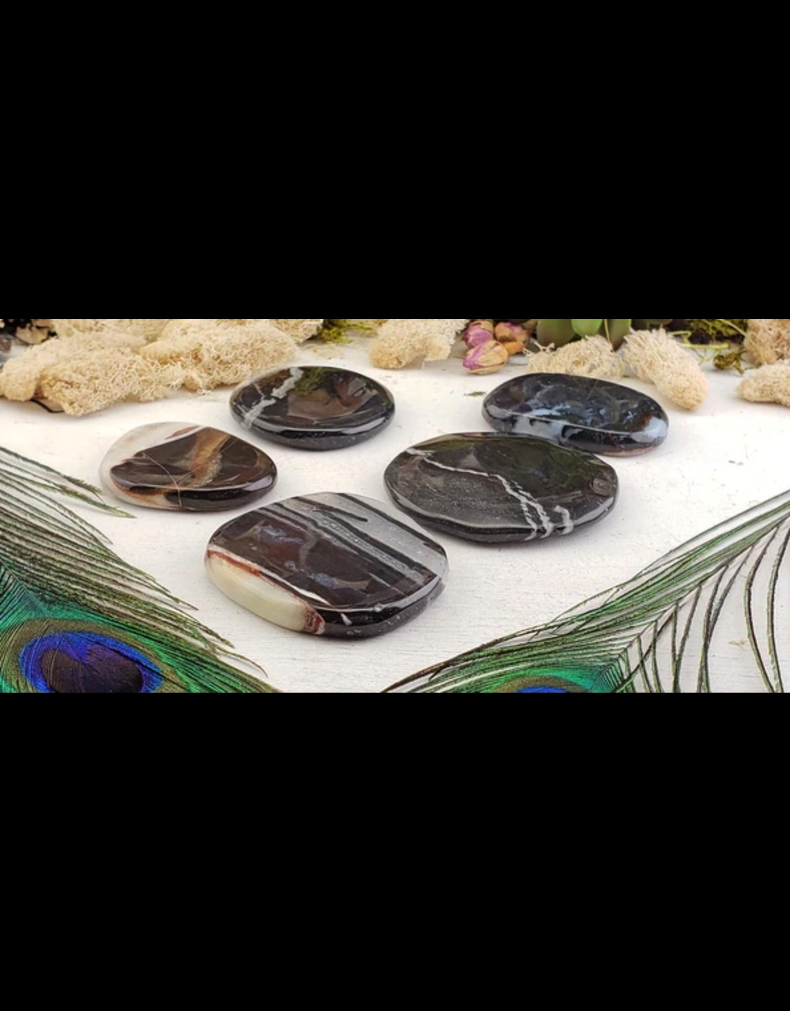 Black Sardonyx Worry Stone