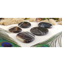 Black Sardonyx Worry Stone