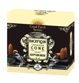 Good Earth/Soul Sticks Egyptian Musk Backflow Incense Cones -10