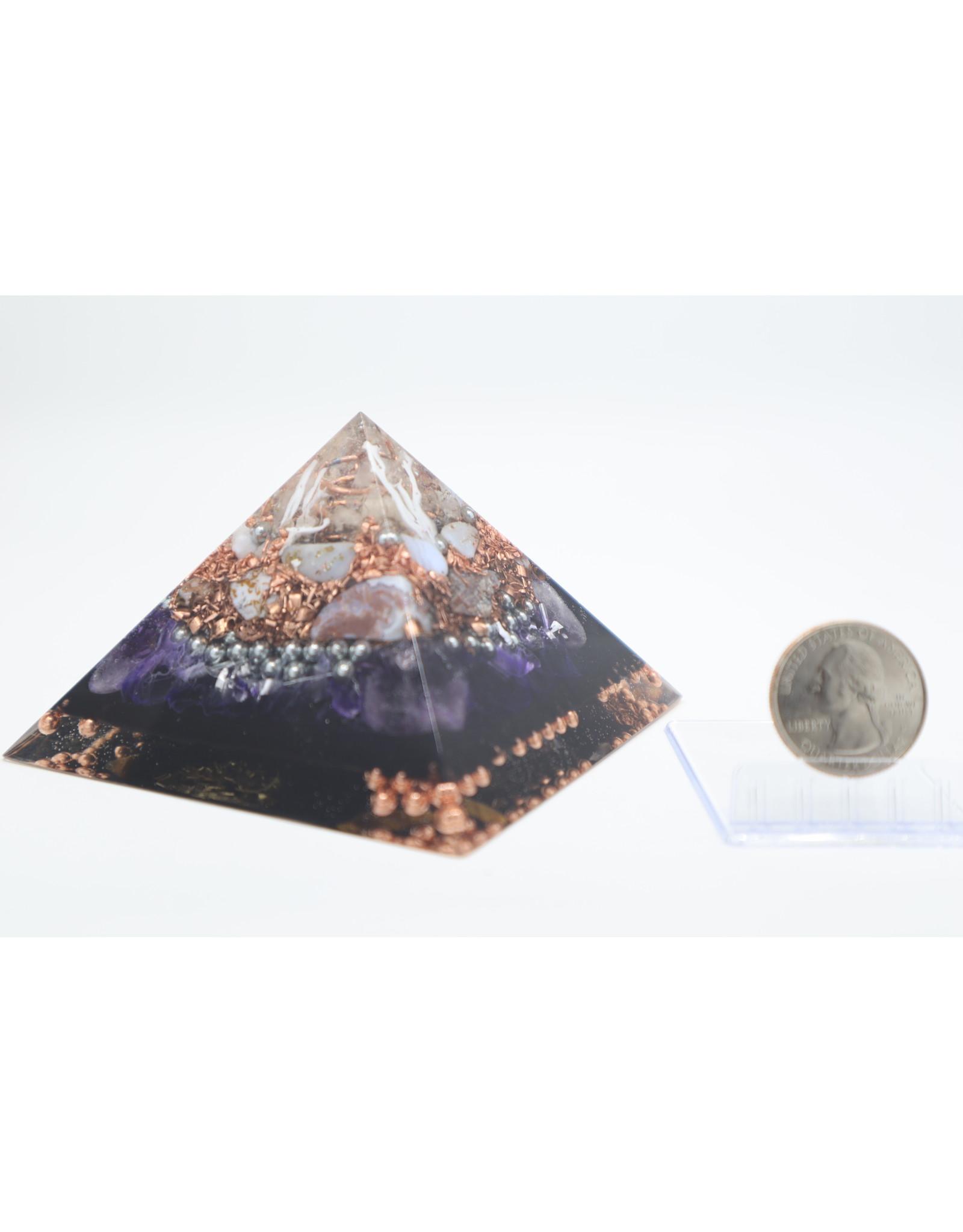 Amethyst & Copper Pyramid