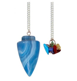 Pendulum Curved Blue Onyx