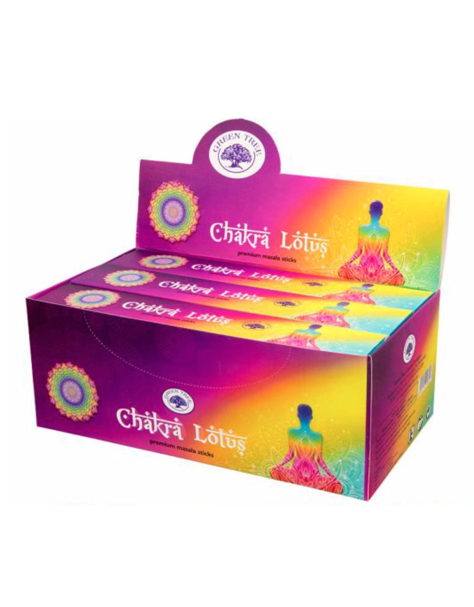 Chakra Lotus Incense Box - Sticks