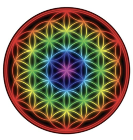 Scrying Mirror Flower of Life Rainbow