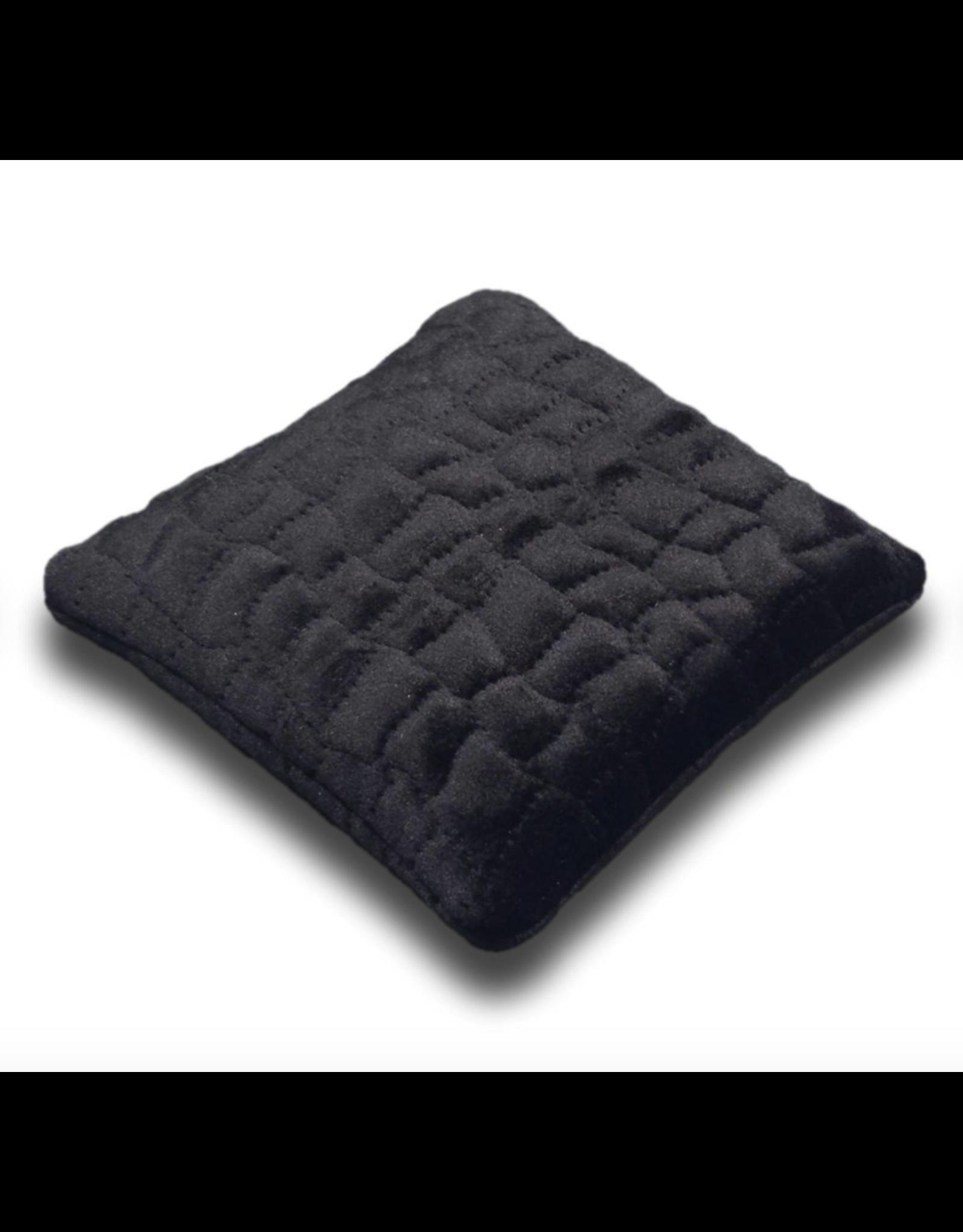 Black Velvet Crystal Pillow - Medium